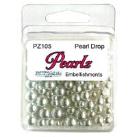 Buttons Galore - Pearlz Collection - Embellishments - Pearl Drop