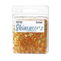 Buttons Galore - Shimmerz Collection - Embellishments - Sunset
