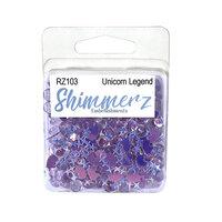 Buttons Galore - Shimmerz Collection - Embellishments - Unicorn Legend