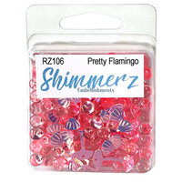 Buttons Galore - Shimmerz Collection - Embellishments - Pretty Flamingo