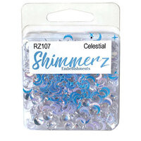 Buttons Galore - Shimmerz Collection - Embellishments - Celestial