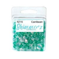 Buttons Galore - Shimmerz Collection - Embellishments - Caribbean