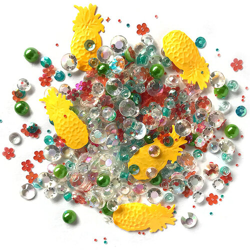 Buttons Galore - Sparkletz Collection - Embellishments - Tropical Delight