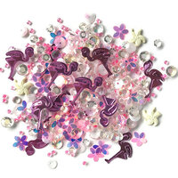 Buttons Galore - Sparkletz Collection - Embellishments - Pink Flamingo