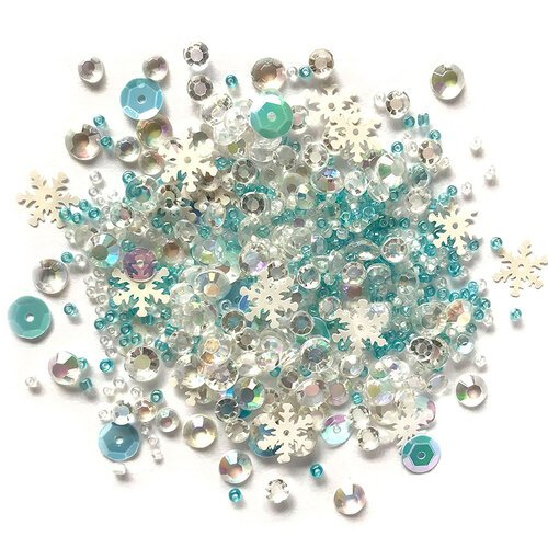 Buttons Galore - Christmas - Sparkletz Collection - Embellishments - Snow Crystals