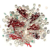 Buttons Galore - Sparkletz Collection - Embellishments - Love Affair