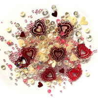 Buttons Galore - Sparkletz Collection - Embellishments - Valentine's Day