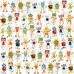 Bella Blvd - Super Stud Collection - 12 x 12 Paper - Robot Love, BRAND NEW