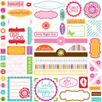 Bella Blvd - Flirty Collection - 12 x 12 Cardstock Stickers - Label Additions