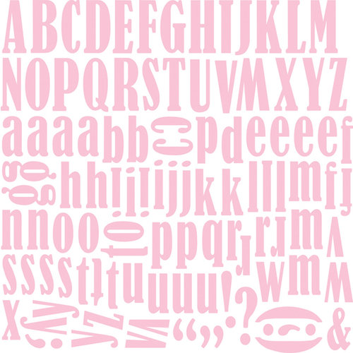 Bella Blvd - Flirty Collection - 12 x 12 Alphabet Stickers - Carla Font - Posie