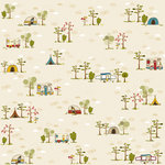 Bella Blvd - Camped Out Collection - 12 x 12 Paper - Happy Campers, BRAND NEW