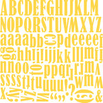 Bella Blvd - Plastino Collection - 12 x 12 Alphabet Stickers - Carla Font - Bell Pepper, CLEARANCE