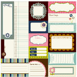 Bella Blvd - Estate Sale Collection - 12 x 12 Cardstock Stickers - Bella Blurbs, CLEARANCE