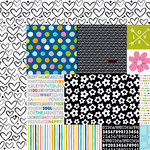 Bella Blvd - Just Add Color Collection - 12 x 12 Double Sided Paper - Daily Details