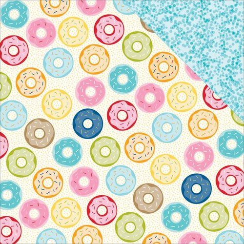 Bella Blvd - Family Frenzy Collection - 12 x 12 Double Sided Paper - Donut Day