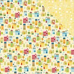 Bella Blvd - Family Frenzy Collection - 12 x 12 Double Sided Paper - Around the Block