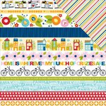 Bella Blvd - Family Frenzy Collection - 12 x 12 Double Sided Paper - Borders