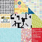 Bella Blvd - Family Frenzy Collection - 12 x 12 Double Sided Paper - Daily Details