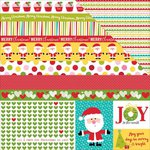 Bella Blvd - Make It Merry Collection - Christmas - 12 x 12 Double Sided Paper - Borders and Bits
