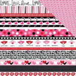 Bella Blvd - Valentina Collection - 12 x 12 Double Sided Paper - Borders