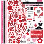 Bella Blvd - Valentina Collection - 12 x 12 Cardstock Stickers - Treasures and Text