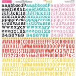 Bella Blvd - Cardstock Stickers - Tiny Text Alphas - Bold and Beautiful