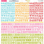 Bella Blvd - Cardstock Stickers - Tiny Text Alphas - Fruit Punch