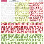 Bella Blvd - Cardstock Stickers - Tiny Text Alphas - Festive