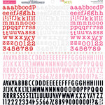 Bella Blvd - Cardstock Stickers - Tiny Text Alphas - Wild Berries