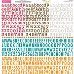 Bella Blvd - Cardstock Stickers - Tiny Text Alphas - Pumpkin Spice