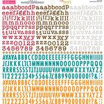 Bella Blvd - Cardstock Stickers - Tiny Text Alphas - Pumpkin Spice