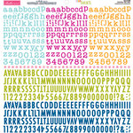 Bella Blvd - Cardstock Stickers - Tiny Text Alphas - Faithful