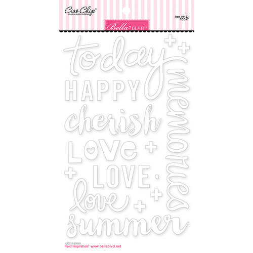 Bella Blvd - Ciao Chip - Self Adhesive Chipboard - Words - Today