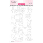 Bella Blvd - Ciao Chip - Self Adhesive Chipboard - Words - Hello There