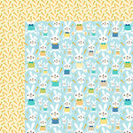 Bella Blvd - Sweet Sweet Spring Collection - 12 x 12 Double Sided Paper - His Bunny Hop