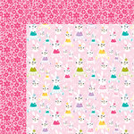 Bella Blvd - Sweet Sweet Spring Collection - 12 x 12 Double Sided Paper - Her Bunny Hop