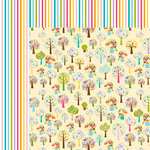 Bella Blvd - Sweet Sweet Spring Collection - 12 x 12 Double Sided Paper - Buds and Blooms