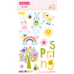 Bella Blvd - Sweet Sweet Spring Collection - Ciao Chip - Self Adhesive Chipboard - Icons