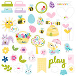 Bella Blvd - Sweet Sweet Spring Collection - Die Cut Cardstock Pieces