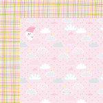 Bella Blvd - Sweet Baby Girl Collection - 12 x 12 Double Sided Paper - Just A Wink