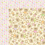 Bella Blvd - Sweet Baby Girl Collection - 12 x 12 Double Sided Paper - Mrs Teddy