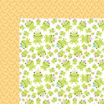 Bella Blvd - Sweet Baby Girl Collection - 12 x 12 Double Sided Paper - Princess Frog