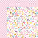 Bella Blvd - Sweet Baby Girl Collection - 12 x 12 Double Sided Paper - Pretty as a Posie