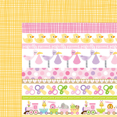 Bella Blvd - Sweet Baby Girl Collection - 12 x 12 Double Sided Paper - Borders