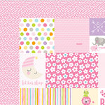 Bella Blvd - Sweet Baby Girl Collection - 12 x 12 Double Sided Paper - Daily Details