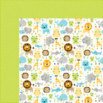 Bella Blvd - Cute Baby Boy Collection - 12 x 12 Double Sided Paper - Jungle Jammies