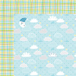 Bella Blvd - Cute Baby Boy Collection - 12 x 12 Double Sided Paper - Barely a Wink