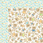 Bella Blvd - Cute Baby Boy Collection - 12 x 12 Double Sided Paper - Mr Teddy
