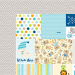 Bella Blvd - Cute Baby Boy Collection - 12 x 12 Double Sided Paper - Daily Details