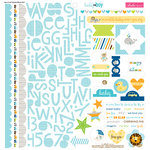 Bella Blvd - Cute Baby Boy Collection - 12 x 12 Cardstock Stickers - Treasures and Text